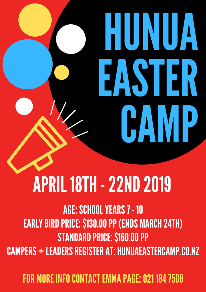 Hunua Easter Camp 2019
