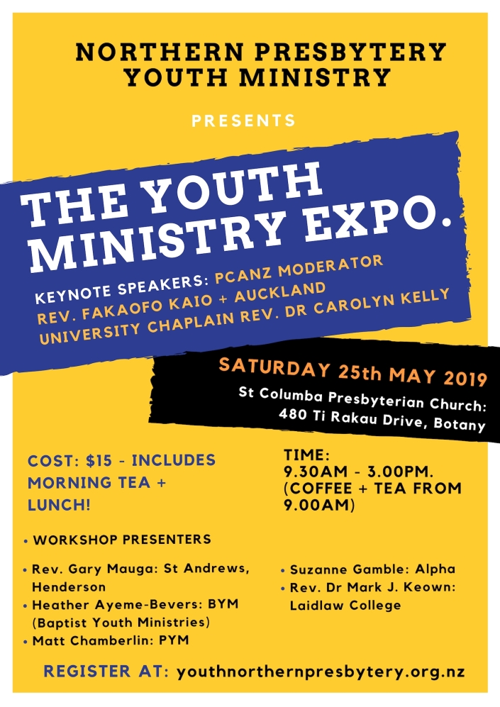 Youth Ministry Expo - poster 2019